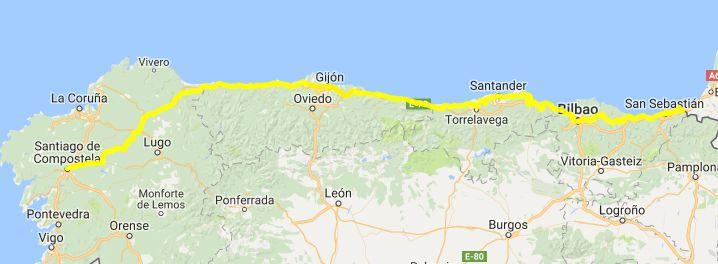 camino-norte-mapa